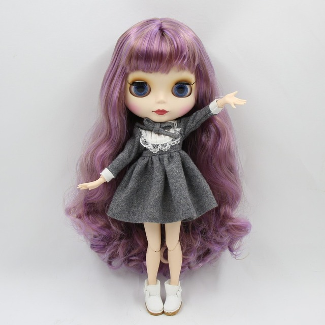 TBL Neo Blythe Doll Purple Gloden Hair Jointed Body