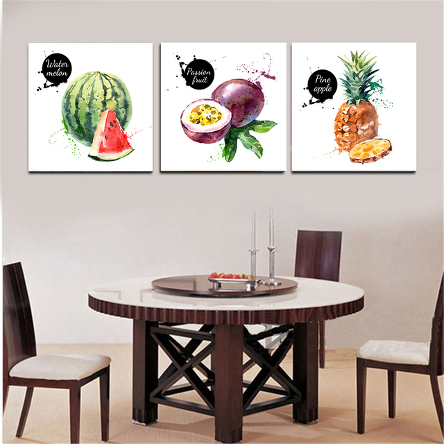 Exceptionnel Watercolor Fruits Pineapple Olive Modern Print Hanging Wall Art Picture  Abstract Painting Kitchen Decor Europe Home