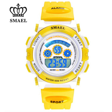 Cute Kids Watches Shock Resistant 50M Waterproof Girl Digital Clock  Transparent Color Watches for Children Clcok Gifts WS0704B
