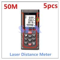 5pcs 1Lot Digital Laser Distance Meter 50m 164ft Laser Rangefinder Laser Range Finder Measure Distance Area