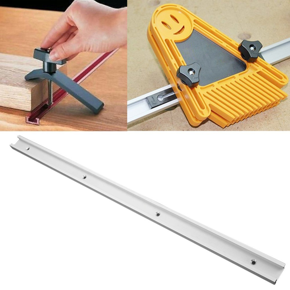 600mm/24 Inch Standard Aluminium T-track Woodworking T-slot Miter Track/Slot For Router Table 1pc 300mm length aluminum alloy t track router table saw woodworking t slot with anti corrosion
