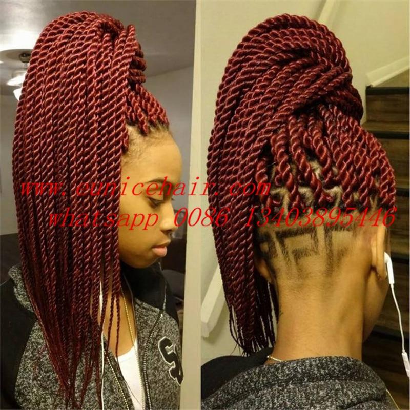 99j Kanekalon Jumbo Braiding Hair For Senegalese Twist Burgundy Havana Mambo Crochet 12 Roots Piece On Aliexpress Alibaba Group