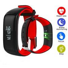 P1 Monitor de Freqüência Cardíaca Relógios de Pressão Arterial Do Bluetooth Inteligente Pulseira Inteligente Pulseira Smartband Aptidão para Android IOS Telefone