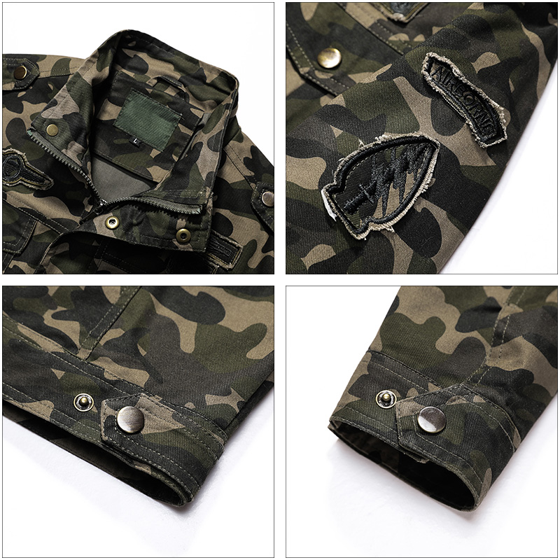 AIRGRACIAS Brand Clothing Autumn Men's Military Camouflage Jacket Army Tactical clothes Multicam Male Camouflage Windbreaker-in Jackets from Men's Clothing    3