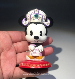 Image 5 - Disney Mickey Mouse Minnie Marry Chinese style 7 9cm Action Figure Anime Decoration Collection Figurine Toy model for children