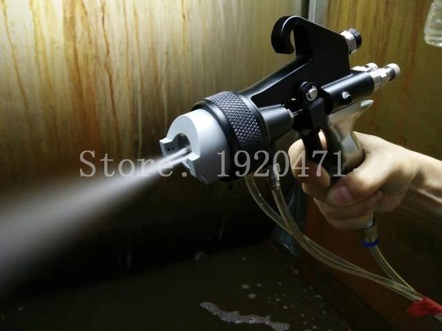 اثنين من رئيس الكروم بندقية رذاذ فوهة مزدوجة الفضة البولي يوريثين رغوة مرآة الكروم الطلاء نانو