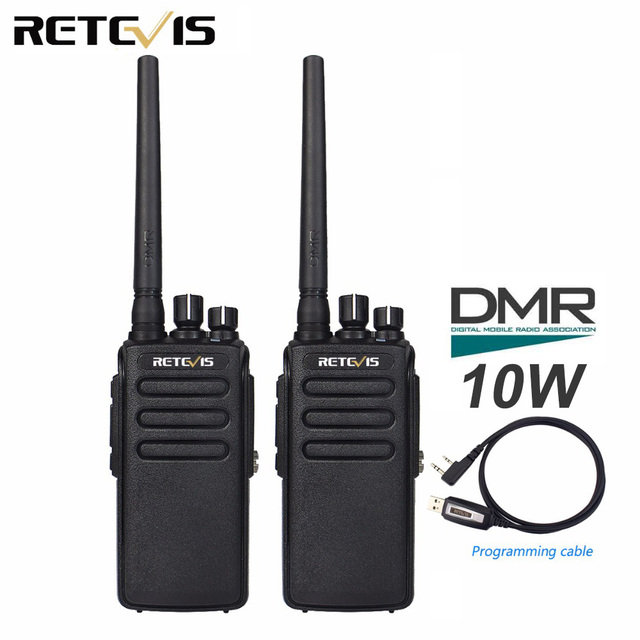 2 шт. Retevis RT81 10 Вт DMR цифровое радио IP67 Водонепроницаемый рация UHF 400-470 мГц VOX зашифрованные двусторонней радиосвязи Long Range