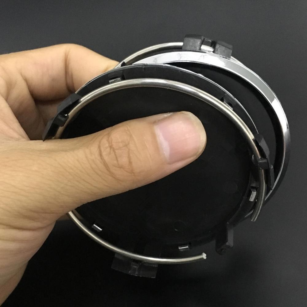 цена на 4pcs/lot 75mm Wheel Caps Emblem Logo Wheel Center Cap For Mercedes Benz W210 W211 W212 W202 CLA AMG Car Styling Car Accessories