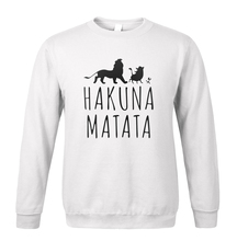 Harajuku HAKUNA MATATA Men Hoodies 2017 Autumn Winter Fleece Mens Sweatshirt K-pop Styel Sportswear Loose Fit Hipster Hooded Men