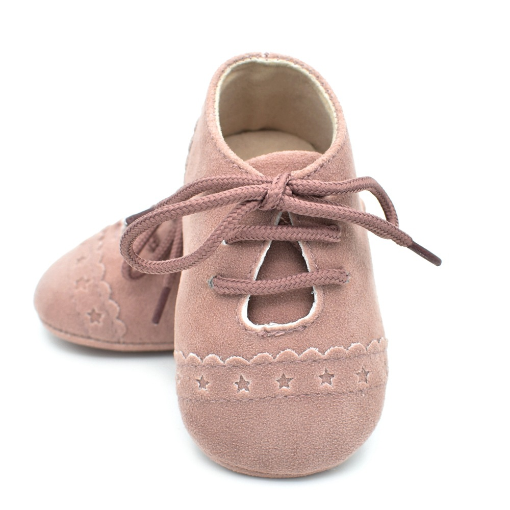 8 colors New Design Floral baby infant anti-slip first walker Soft soled Newborn 0-1 years Solid Pu Suede leather Baby shoes