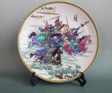 Colección de antigüedades de cerámica tres veces las tres de guerra Británico Lu Bu placa decoración del hogar muebles de Decoración