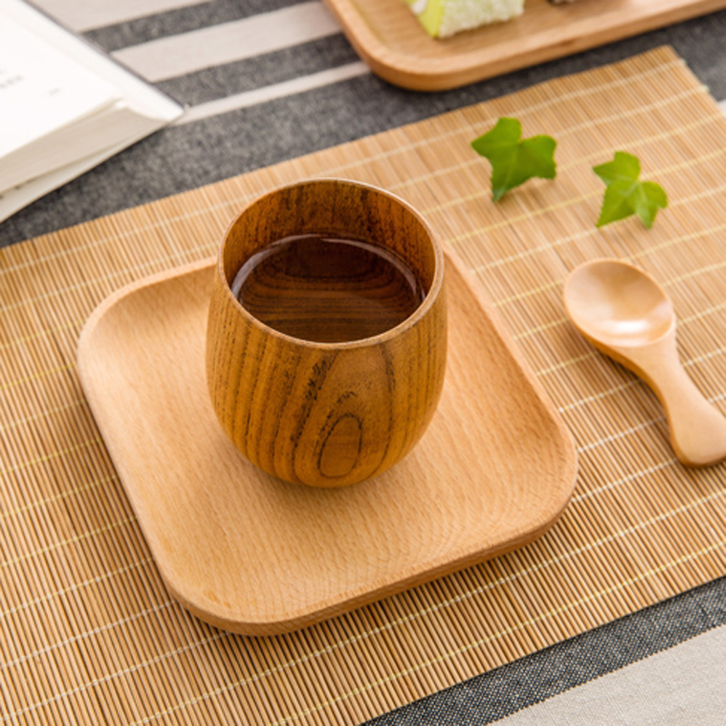 Mini Wooden Plate Set Small Square Beech Wood Dishes Snack Fruit Cake Tray Lovely Wooden Coaster Set Mug Coasters Wood Utensils-in Dishes \u0026 Plates from Home ... & Mini Wooden Plate Set Small Square Beech Wood Dishes Snack Fruit ...
