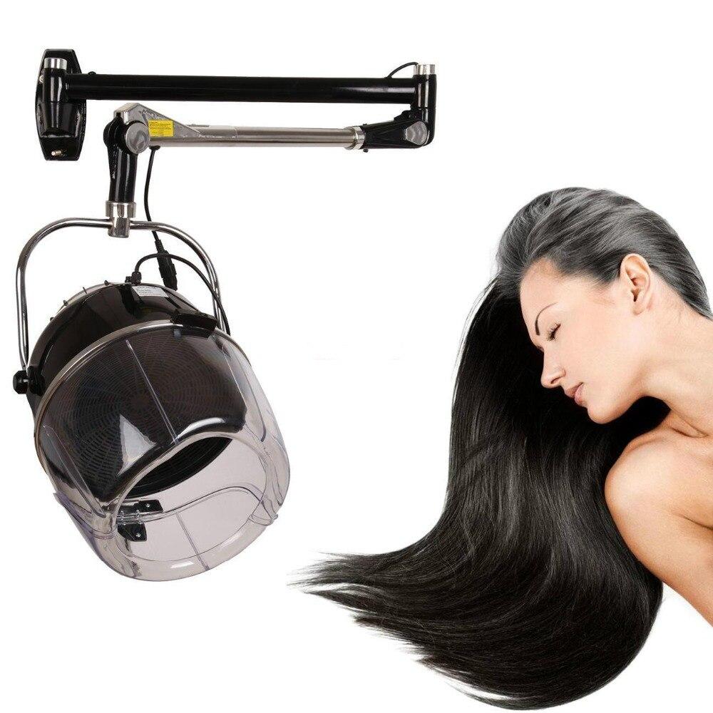 (Ship from USA) Swing Arm Wall Mounted Hair Dryer Adjustable High Grade Hood Beauty Salon BLK ship from usa portable height adjustable shampoo basin hair bowl salon treatment tool