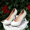 High Quality New 2017 women pumps platform shoes fashion high heel red pumps women wedding heels ladies shoes white women heels