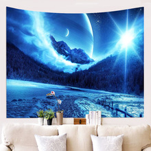 Fantasy Starry Sky Tapestry Wall Hanging Decoration Leisure Fashion Shawl Background Yoga Mat Printing Curtain Tablecloth