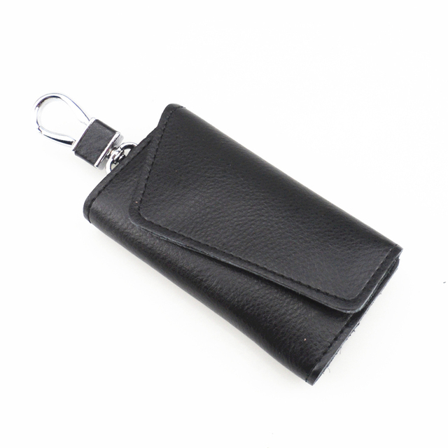 new leather key wallets creative card key holder case