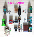 Hot 28pcs/9set minecraft toys PVC action figures armor sword stone model block figure toy collectible Gift for kids children