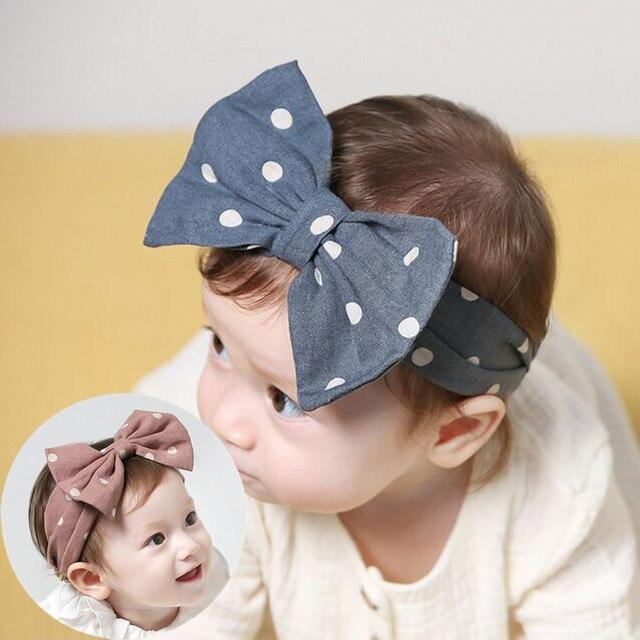 Moda DOTS kawaii turbante cabello cabeza bandas WRAP accesorios arcos para  las niñas adornos de pelo e217e113634d