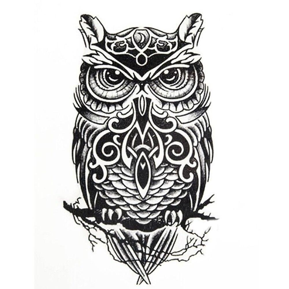 Punk Owl/Skull Temporary Tatto Waterproof Men Women Temporary Tattoo 0292 Arm Sticker Sl ...
