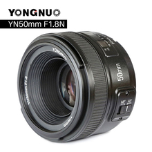 YONGNUO YN50mm F 1,8 Kamera Objektiv für Nikon F Canon EOS Autofokus Große Blende Linse für DSLR Kamera D800 d300 D700 D3200 D3300