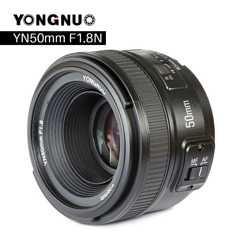 YONGNUO YN50mm F1.8 Камера объектив для Nikon F Canon EOS автофокусом большой апертурой линзы для DSLR Камера D800 D300 d700 D3200 D3300