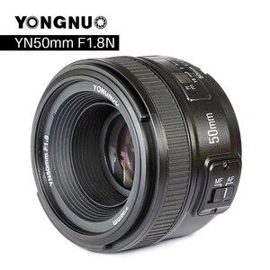 Image 1 - YONGNUO YN50mm F1.8 كاميرا عدسات لنيكون F كانون EOS السيارات التركيز عدسة فتحة كبيرة ل DSLR كاميرا D800 D300 D700 D3200 D3300