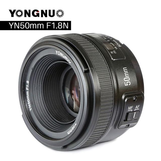 YONGNUO YN50mm F1.8 كاميرا عدسات لنيكون F كانون EOS السيارات التركيز عدسة فتحة كبيرة ل DSLR كاميرا D800 D300 D700 D3200 D3300