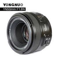 YONGNUO YN50mm F1.8 lente de cámara para Nikon F Canon EOS enfoque automático lente de gran apertura para cámara DSLR D800 D300 D700 D3200 D3300