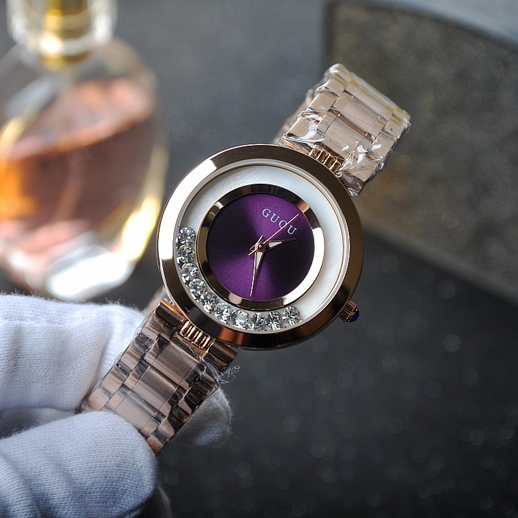 Fashion Brand  Quartz Women Watch Relojes Mujer Crystal Lady Clock Gold Stainless Steel Rotate Diamond Higth Grade Dress Watches watche women stainless steel band ladies crystal diamond quartz watch luxury rose gold wrist watches relojes mujer