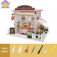 Emble Building Sand Doll House Wooden Diy Model Cocoa S Fantastic Ideas Dollhouse Home Furniture