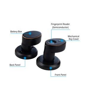 Image 5 - Zinklegering Biometrische Vingerafdruk deurslot beveiliging cilinder deurslot Roestvrij elektronische waterdichte deurslot