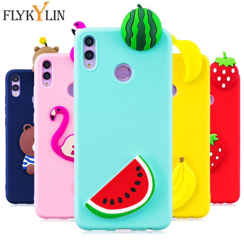 Silicon Case on sFor Coque Huawei Honor 8X 8X Case Cover For Huawei Honor 8C 8 C 3D Cute Cartoon Doll Toys Soft Phone Cases Etui in Fitted Cases from Cellphones Telecommunications