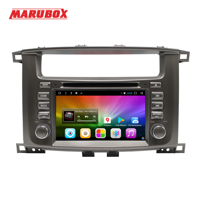MARUBOX Head Unit 2 Din Android 8.1 For Toyota Land Cruiser 100 2002 2007 GPS Navi Stereo Radio Car Multimedia Player 7A112DT8-in Car Multimedia Player from Automobiles & Motorcycles    1
