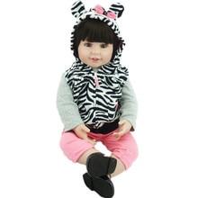 22Inch Kids Toys Handmade Reborn Dolls 55CM Lifelike Vinyl Reborn Boneca Bebe Fashion Girls Toy Juguetes Brinquedos