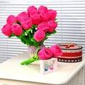 30 cm Rosas Buquê de Flores Flores De Pelúcia Brinquedo de Pelúcia Brinquedo Macio Recheado Planta Rosas do Presente do Dia Dos Namorados de Pelúcia Kawaii flores