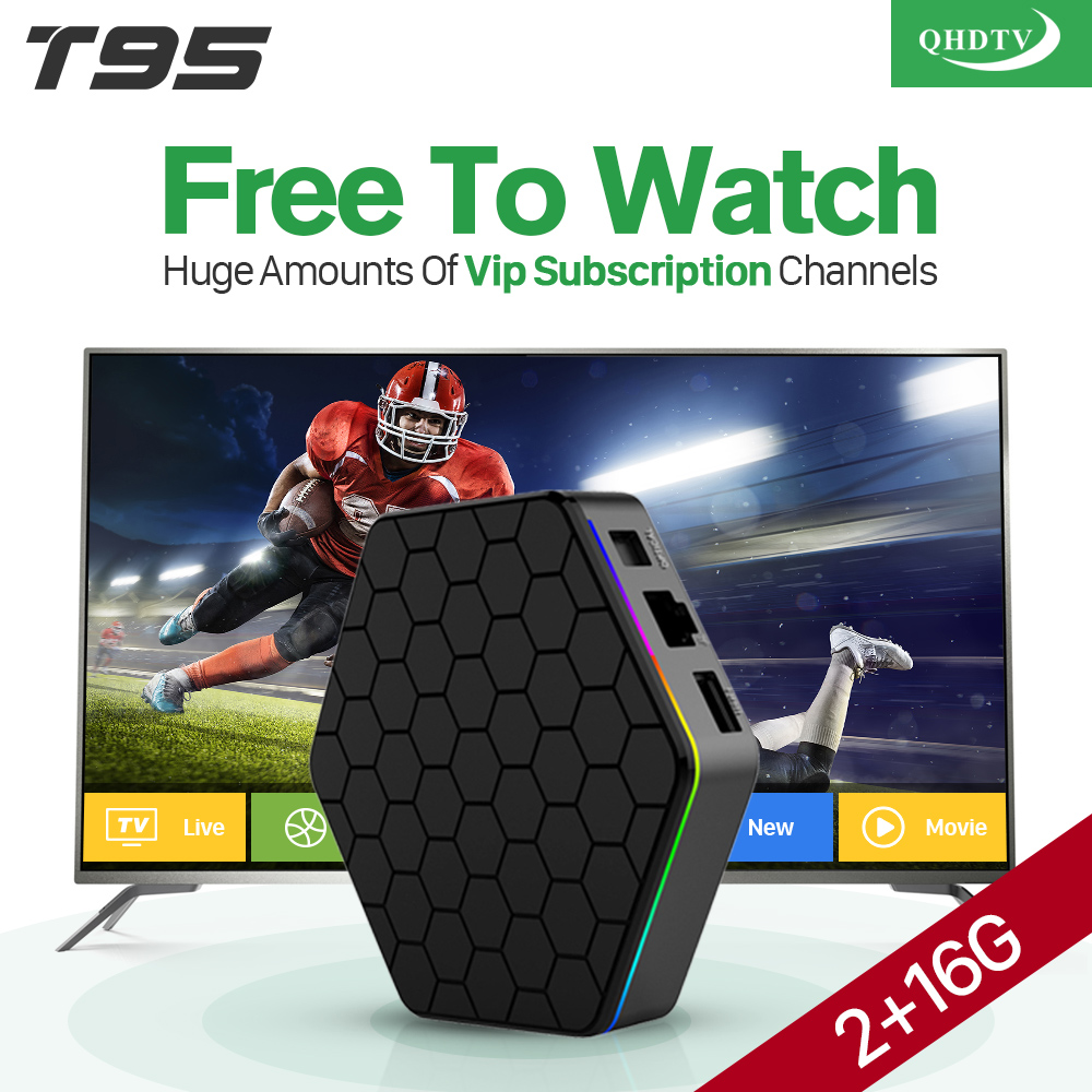 Arabic IPTV Box T95ZPLUS 2G S912 Smart Android 6.0 TV Box QHDTV Subscription 1300 Channels Europe UK French IPTV Box