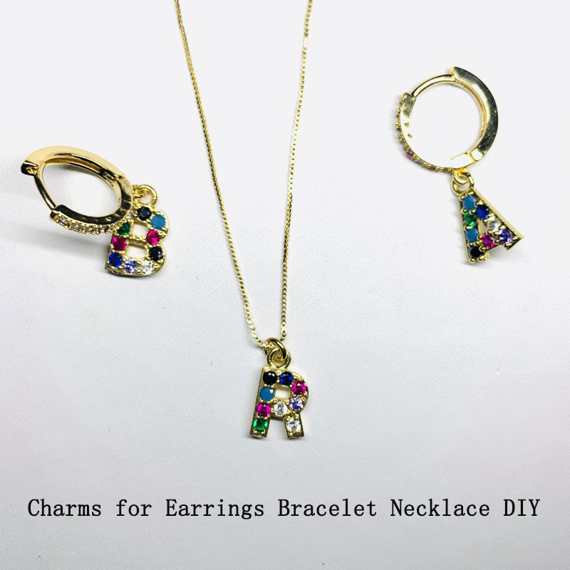 Argent Acier Inoxydable Slide Alphabet Initial Lettre collier pendentif pour femmes