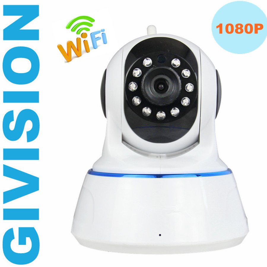 Wireless ip camera 1080P WIFI night vision 2mp pan tilt cctv home security network ip camera alarm system baby monitor SD Card