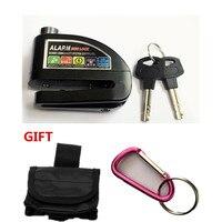 Free Shipping 6 Color Bike Alarm Lock Safety Waterproof Motorcycle Brake Disc Alarm Lock Bike Lock