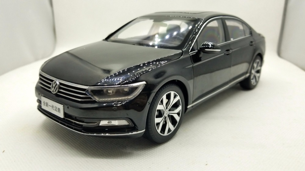 1:18 Diecast Model for Volkswagen VW Magotan Passat B8L 2017 Black Sedan Alloy Toy Car Miniature Collection Gifts Passat B8 1 18 масштаб vw volkswagen новый tiguan l 2017 оранжевый diecast модель автомобиля