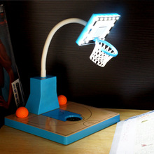 Mini Table lamps Usb Gadget Novelty For Gift Desk Lamp with 14 LEDs light USB Rechargeable Basketball court Flexible Table Lamp