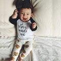 2017 outono do bebê da menina do menino roupas de manga Longa Top + calças 2 pcs terno do esporte do bebê menino conjunto de roupas de bebê recém-nascido roupas