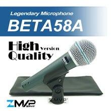 El Envío Gratuito! alta Calidad Versión Beta 58a BETA58 Karaoke Vocal Dinámico Micrófono Con Cable de Mano Micrófono Mike Beta 58 Un Micrófono