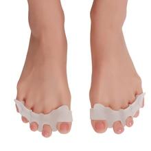 цена на 2pcs/set Gel Silicone Bunion Corrector Toe Separators Straightener Spreader Foot Care Tool Hallux Valgus Pro massager P10