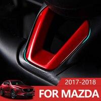 Car Steering Wheel Covers Trim Sticker For Mazda 2 Demio 3 6 CX 3 CX 5 CX5 CX 5 CX8 CX 9 Axela ATENZA 2017 2018 2019 Accessories