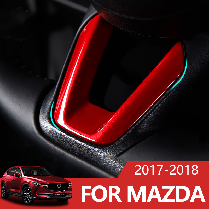 Car Steering Wheel Covers Trim Sticker For <font><b>Mazda</b></font> 2 Demio 3 6 CX-3 CX-5 <font><b>CX5</b></font> CX 5 CX8 CX-9 Axela ATENZA <font><b>2017</b></font> 2018 2019 <font><b>Accessories</b></font> image