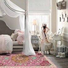 Loartee Pink Flower Girl Princess Room Rug Girls Bedroom Carpet Mat Home Decor Tapetes Alfombra Vloerkleed