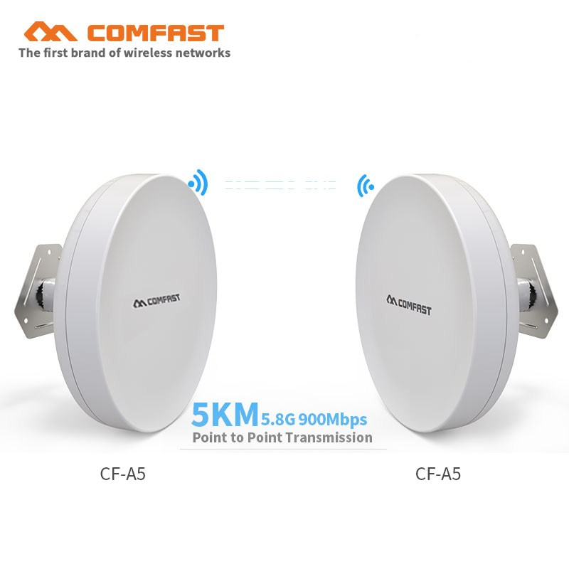 COMFAST 3-5km Long Range High Power Wireless bridge CPE 2.4G&5.8G 300M~900Mbps WIFI Signal Booster Amplifier Repeater ap routersCOMFAST 3-5km Long Range High Power Wireless bridge CPE 2.4G&5.8G 300M~900Mbps WIFI Signal Booster Amplifier Repeater ap routers