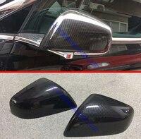 Para Tesla Model X 2016 2017 2018 De Fibra De Carbono Estilo Cap Overlay Molding Guarnição Tampa Espelho Retrovisor Do Lado Da Porta decore