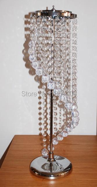 Sky Wheel Acrylic Crystal Wedding Centerpiece Table Pillar 22 Tall
